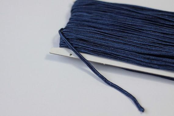 5.5 yards Navy blue Soutache Braid, Passementerie Braid, embroidery, Soutache cord, Passementerie cord Trim, gimp cord, russian braid