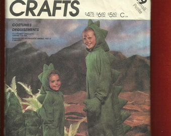 Vintage 1986 McCalls 2749 Dinosaur Costume Pattern for Kids Sizes 4/6