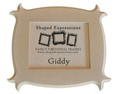 READY TO SHIP - 5x7 Giddy unfinished picture frame