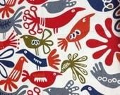 A Fat Quarter of Kawaii Japanese Cotton Linen Fabric - Birds