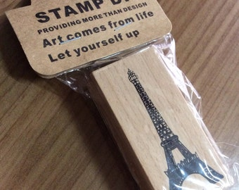 A Piece of Zakka Wooden Stamp - Eiffel Tower