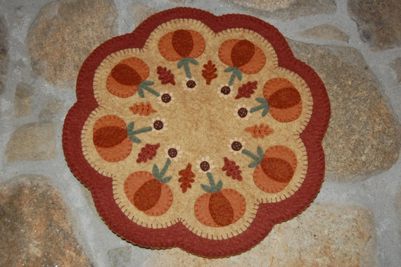 Wool Felt Candle Mat