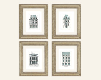 French architecture etsy for Printing architectural drawings