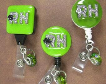 PERSONALIZED BADGES -Retractable Badge Reel,Id Badge Clip,Designer Badge Holder,Nurse Jewelry,Id Badges,Nuse Gift,Teacher,Lanyard,Id Holder