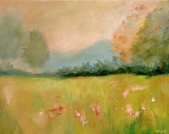 Golden Light Original Oil Painting Landscape