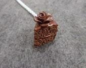 Kawaii Chocolate Cake  Necklace