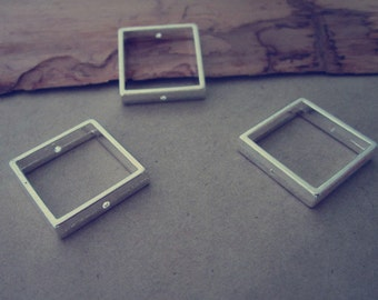 10pcs silver color Square Jump Ring Link  20mm