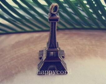 6pcs of  Antique Bronze Eiffel Tower pendant charm 22mmx43mm