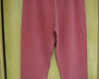 vintage firebrick red knit pants by 'Hot Cotton'. . . 100 % cotton . . . . never worn . . . . . womens size  2X