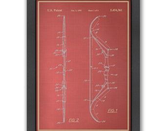Bow III Blue Print, 100% Original Design from Flatiron Design