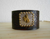 Wyoming Buckin Horse Leather Cuff-LISTING FOR KERRY