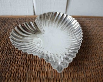 Vintage silver heart-shaped dish, Reed & Barton, Valentine gift