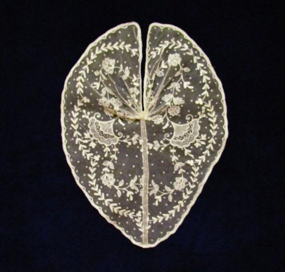 antique large lace bodice trim
