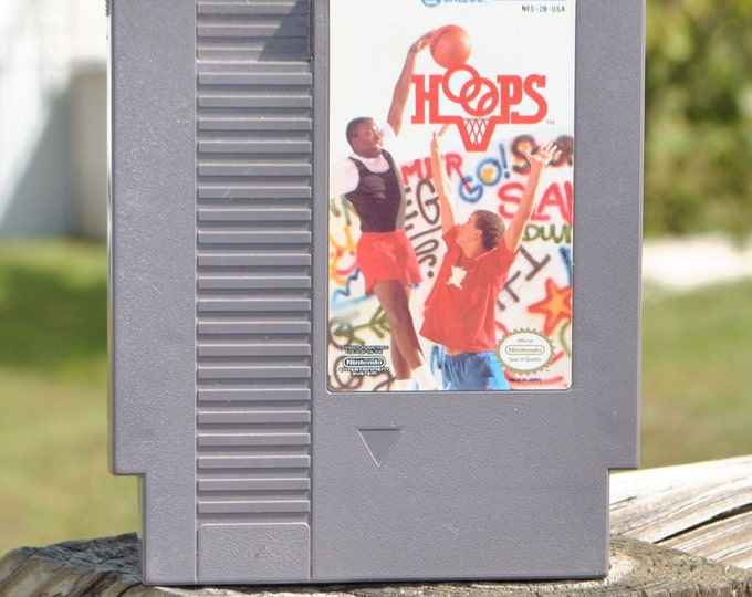 Vintage Nintendo Game Hoops JALECO 1988, NES, Video Game, Console Game, Vintage Game, Vintage Nintendo, Vintage NES, Action Game, Basketball
