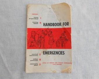 Vintage 1958 Emergency Handbookfrom Office of Defence