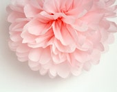 Light Pink Tissue Paper Pom Poms- Wedding, Birthday, Bridal Shower, Baby Shower, Party Decorations, Garden Party