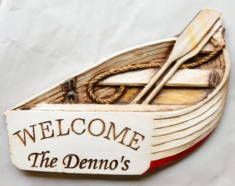 Boat Welcome Sign Personalized with your name or address