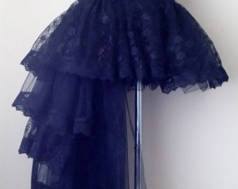 Black Burlesque Tulle Lace  Bustle Skirt all sizes at checkout