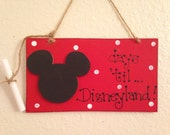 MICKEY MOUSE COUNTDOWN Disney chalkboard sign handcrafted Count down