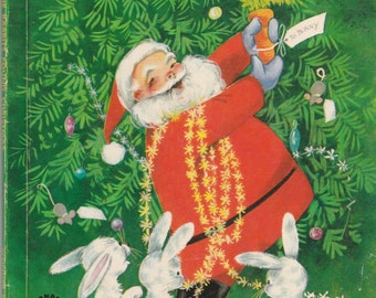 How the Rabbits Found Christmas - Vintage Wonder Book - 1960s - American Edition