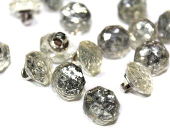 Round Rhinestones Crystal Diamond Cut Sewing Buttons 20 PCS