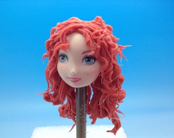 Princess Merida face-Brave,Disney princess.Silicone mold-flexible mold.