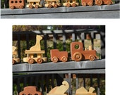 Circus Train with Giraffe, Elephant, Camel, Zoo Train, Heirloom, Redwood, Pine