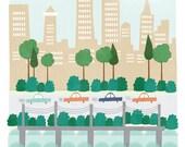 Philadelphia, PA art print illustration - 11x14 - city art poster Philadelphia