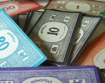 Vintage Monopoly Money steampunk supplies
