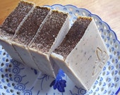 coffee scrub soap -  Luxury handmade soap with Shea and Cocoa Butter -  Handmade in BC, Canada