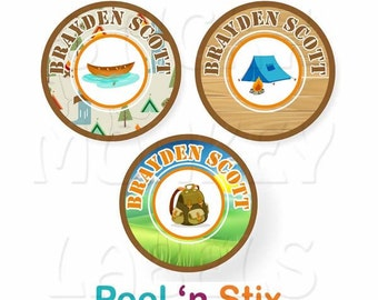 Stick On Clothing Labels, Camping