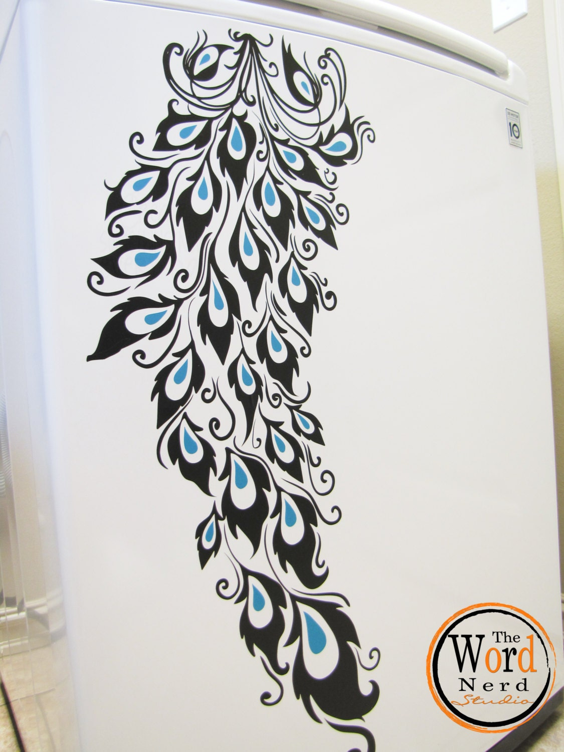 Peacock Feather Decals Washer Dryer Decals Laundry Decal