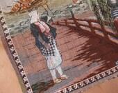 SALE Vintage Japanese Silk Tapestry Weaving Kyoto Japan