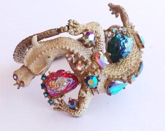 Judy Lee Jeweled Dragon Bracelet