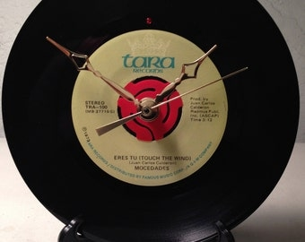 "Recycled MOCEDADES 7"" Record / Eres Tu (Touch The Wind) / Record Clock"