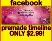 FACEBOOK TIMELINE Cover / Premade Facebook Timeline / Personalized Facebook Banner, Custom Facebook Timeline