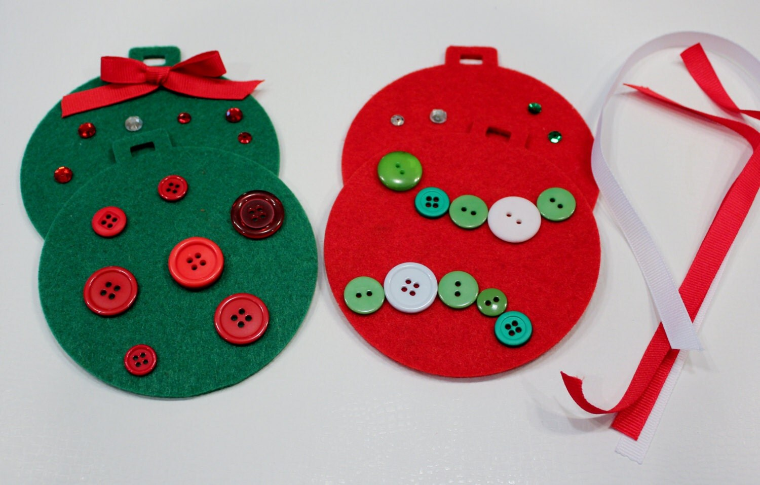 Decorating Ideas > Christmas Ornament Craft Kit For Kids Felt Ornaments ~ 074301_Christmas Decoration Craft Kits