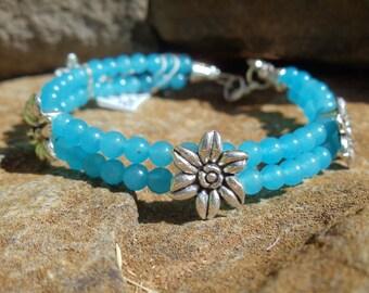 Blue Jade Bracelet