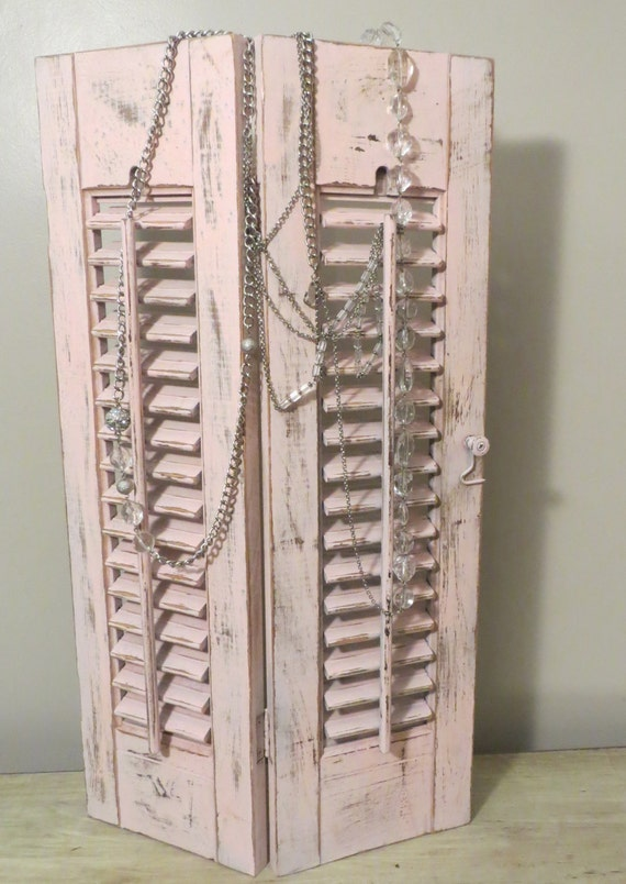 Vintage Wooden Louvered Pink Shutters By Ozdoingitagain On Etsy