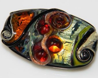 Elements - focal bead - Fire Imp Lampwork Beads
