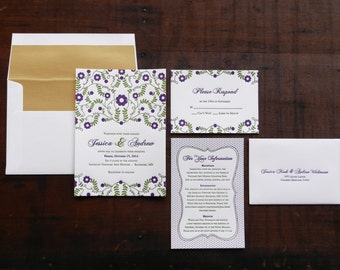 100 Letterpress Wedding Invitations
