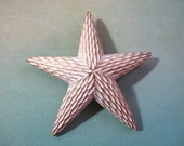 Vintage Star Brooch White Star Mid Century Atomic Rare Textured Pin Costume Retro Estate Signed