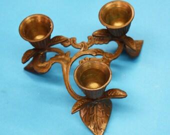 Vintage Brass Candle Holder, 3 in 1 Candle Holder