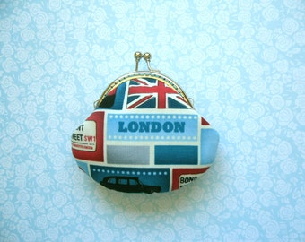 I Love London Coin Purse - Handmade Gift