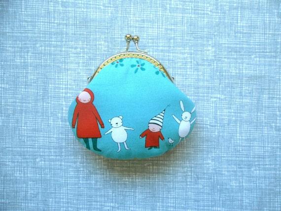 SHOP CLOSING SALE  Meet the Gang small clutch - Coin purse - Handmade Gift