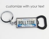 Personalized Alabama License Plate Bottle Opener Keychain by PL8LINKS