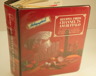 Vintage Autographed Community Cookbook Buffalo Ny Tv