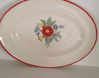 Vintage American Limoges Serving Platter Wishmaker Mayfair farmhouse Country