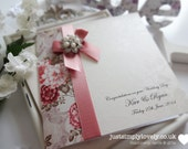 Stunning Wedding Card Or Invitation Vintage Rose & Dusky Pink