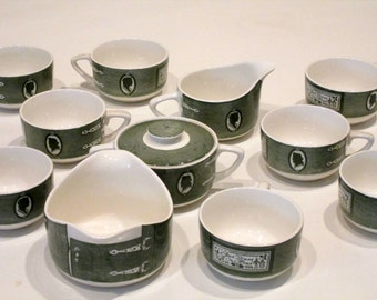 12 Piece Colonial Homestead China 1950